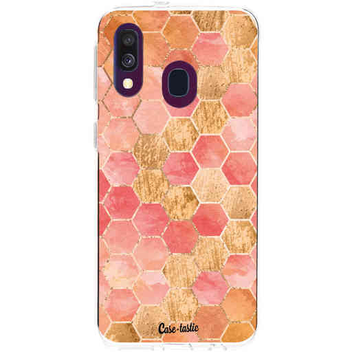 Casetastic Softcover Samsung Galaxy A40 (2019) - Honeycomb Art Coral