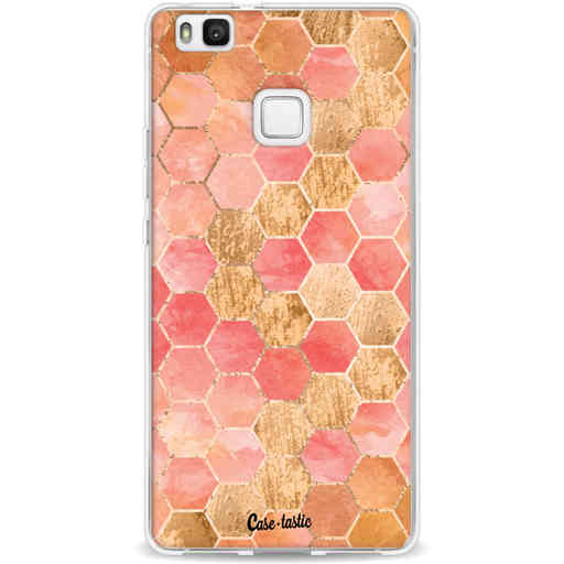 Casetastic Softcover Huawei P9 Lite - Honeycomb Art Coral