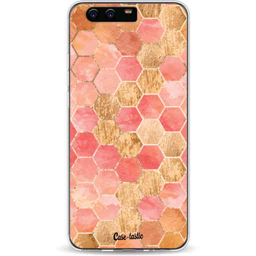 Casetastic Softcover Huawei P10 - Honeycomb Art Coral