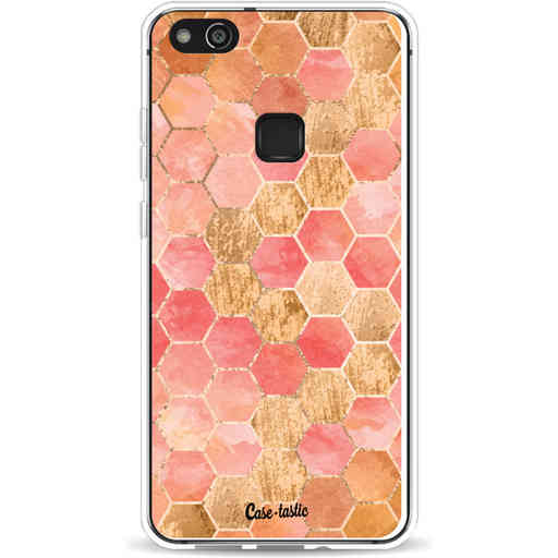 Casetastic Softcover Huawei P10 Lite - Honeycomb Art Coral