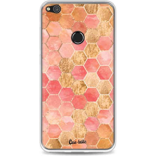 Casetastic Softcover Huawei P8 Lite (2017) - Honeycomb Art Coral