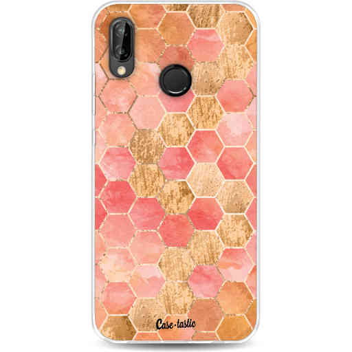 Casetastic Softcover Huawei P20 Lite (2018) - Honeycomb Art Coral