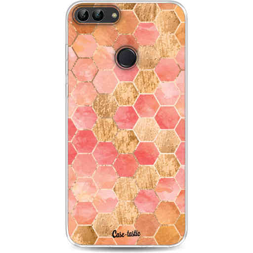 Casetastic Softcover Huawei P Smart - Honeycomb Art Coral