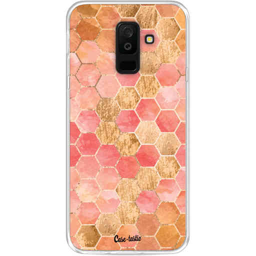 Casetastic Softcover Samsung Galaxy A6 Plus (2018) - Honeycomb Art Coral