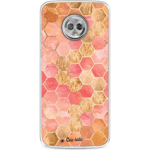 Casetastic Softcover Motorola Moto G6 - Honeycomb Art Coral
