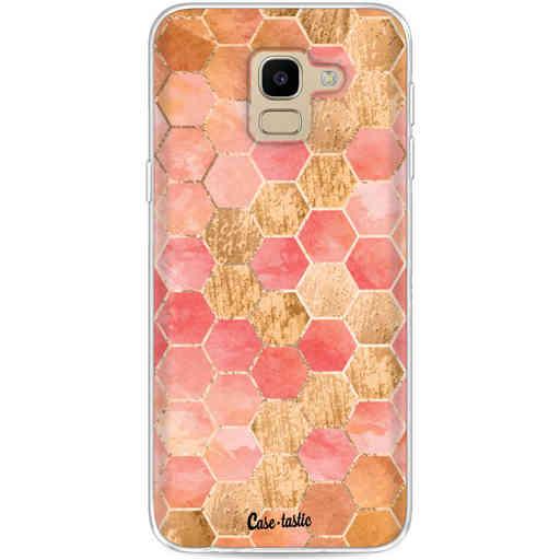 Casetastic Softcover Samsung Galaxy J6 (2018) - Honeycomb Art Coral