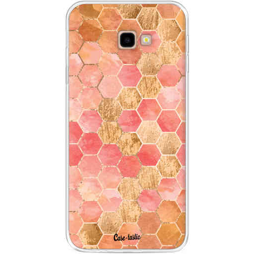 Casetastic Softcover Samsung Galaxy J4 Plus (2018) - Honeycomb Art Coral