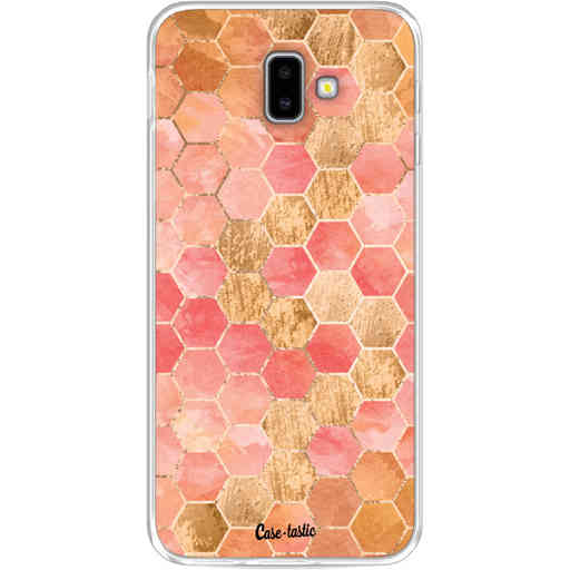 Casetastic Softcover Samsung Galaxy J6 Plus (2018) - Honeycomb Art Coral