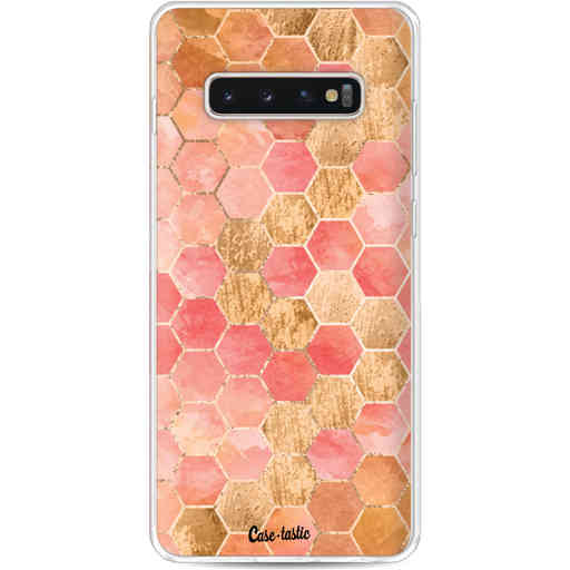 Casetastic Softcover Samsung Galaxy S10 Plus - Honeycomb Art Coral