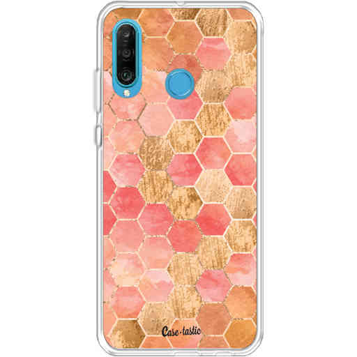 Casetastic Softcover Huawei P30 Lite - Honeycomb Art Coral