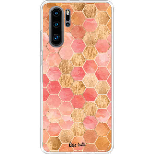 Casetastic Softcover Huawei P30 PRO - Honeycomb Art Coral