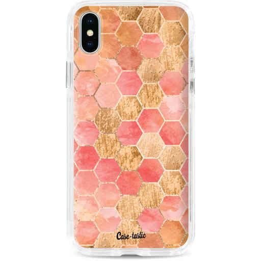 Casetastic Dual Snap Case Apple iPhone X / XS - Honeycomb Art Coral