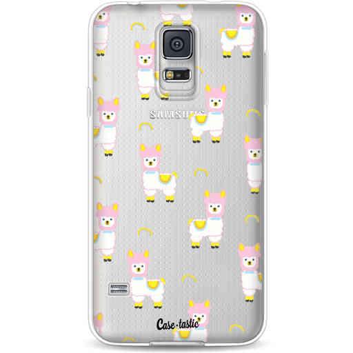 Casetastic Softcover Samsung Galaxy S5  - Rainbow Llama