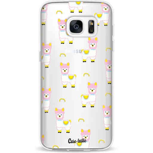 Casetastic Softcover Samsung Galaxy S7 - Rainbow Llama