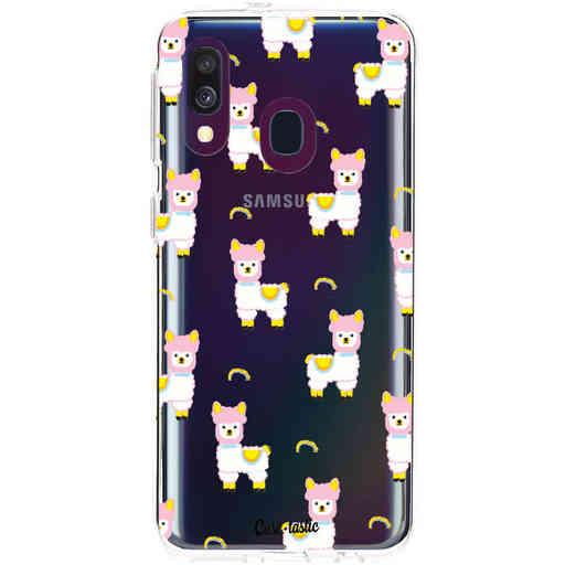 Casetastic Softcover Samsung Galaxy A40 (2019) - Rainbow Llama
