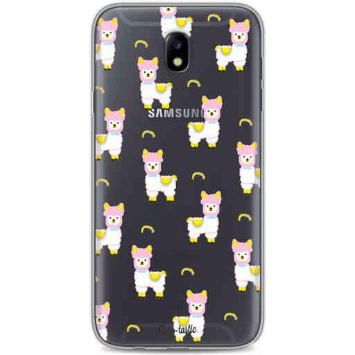 Casetastic Softcover Samsung Galaxy J7 (2017) - Rainbow Llama