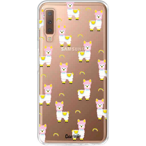 Casetastic Softcover Samsung Galaxy A7 (2018) - Rainbow Llama