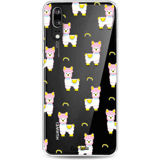 Casetastic Softcover Huawei P20 - Rainbow Llama