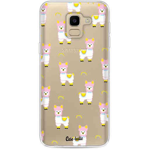 Casetastic Softcover Samsung Galaxy J6 (2018) - Rainbow Llama