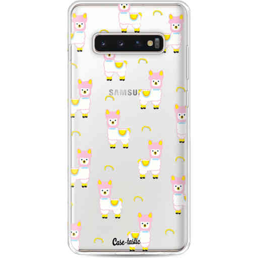 Casetastic Softcover Samsung Galaxy S10 Plus - Rainbow Llama