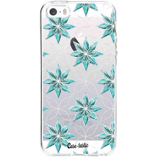 Casetastic Softcover Apple iPhone 5 / 5s / SE - Statement Flowers Blue