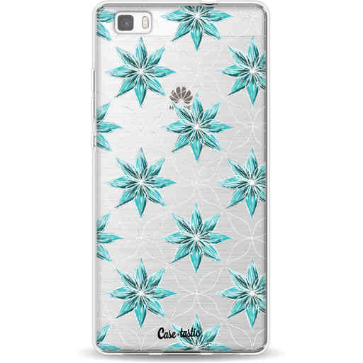 Casetastic Softcover Huawei P8 Lite - Statement Flowers Blue
