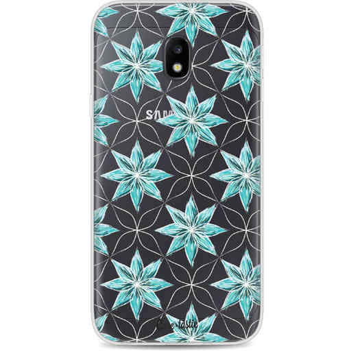 Casetastic Softcover Samsung Galaxy J3 (2017)  - Statement Flowers Blue