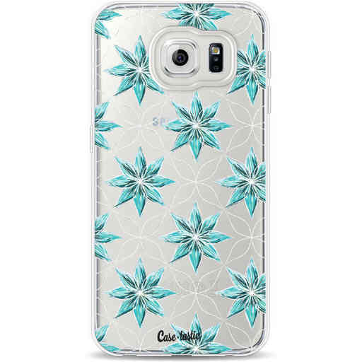 Casetastic Softcover Samsung Galaxy S6 - Statement Flowers Blue