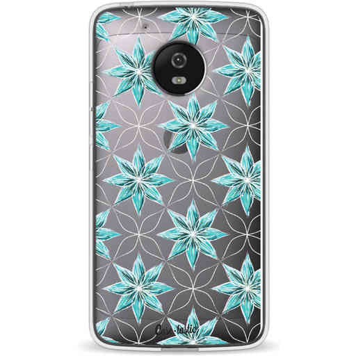 Casetastic Softcover Motorola Moto G5 - Statement Flowers Blue