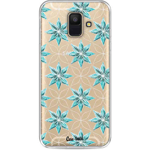 Casetastic Softcover Samsung Galaxy A6 (2018) - Statement Flowers Blue