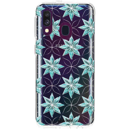 Casetastic Softcover Samsung Galaxy A40 (2019) - Statement Flowers Blue