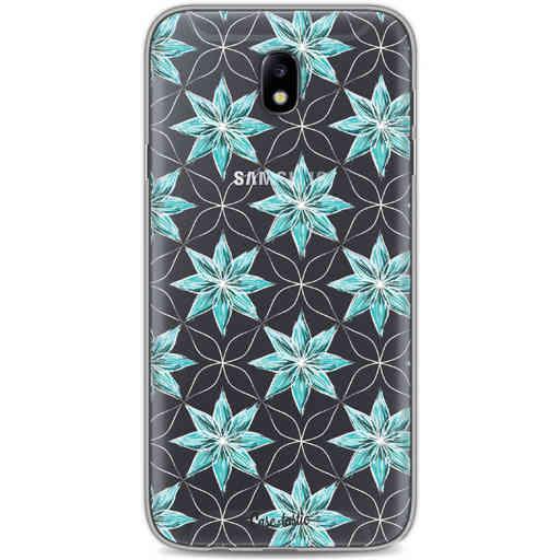 Casetastic Softcover Samsung Galaxy J7 (2017) - Statement Flowers Blue