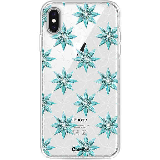 Casetastic Softcover Apple iPhone XS Max - Statement Flowers Blue