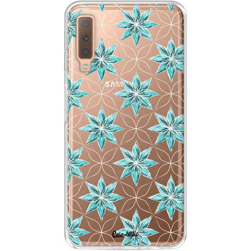 Casetastic Softcover Samsung Galaxy A7 (2018) - Statement Flowers Blue