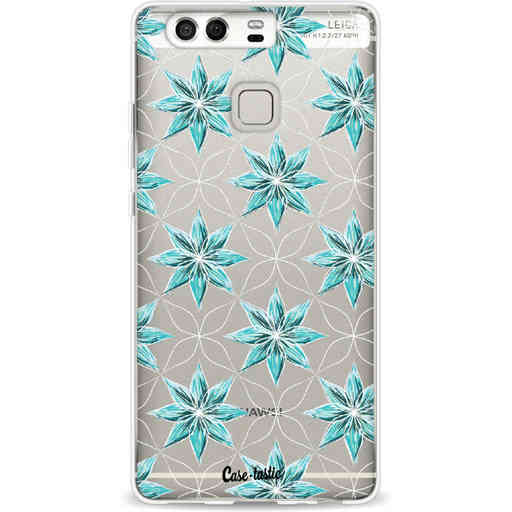 Casetastic Softcover Huawei P9 - Statement Flowers Blue