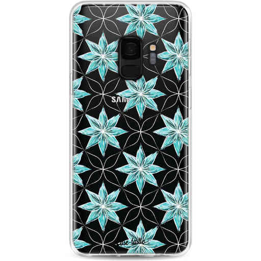 Casetastic Softcover Samsung Galaxy S9 - Statement Flowers Blue
