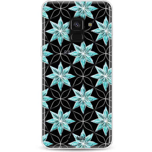 Casetastic Softcover Samsung Galaxy A8 (2018) - Statement Flowers Blue
