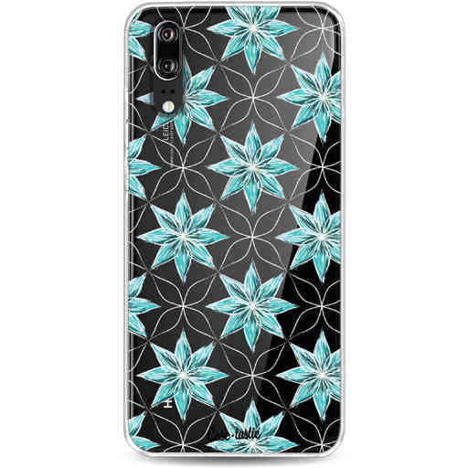 Casetastic Softcover Huawei P20 - Statement Flowers Blue