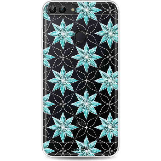 Casetastic Softcover Huawei P Smart - Statement Flowers Blue