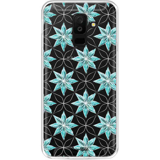 Casetastic Softcover Samsung Galaxy A6 Plus (2018) - Statement Flowers Blue