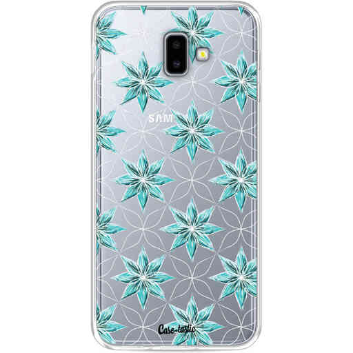Casetastic Softcover Samsung Galaxy J6 Plus (2018) - Statement Flowers Blue