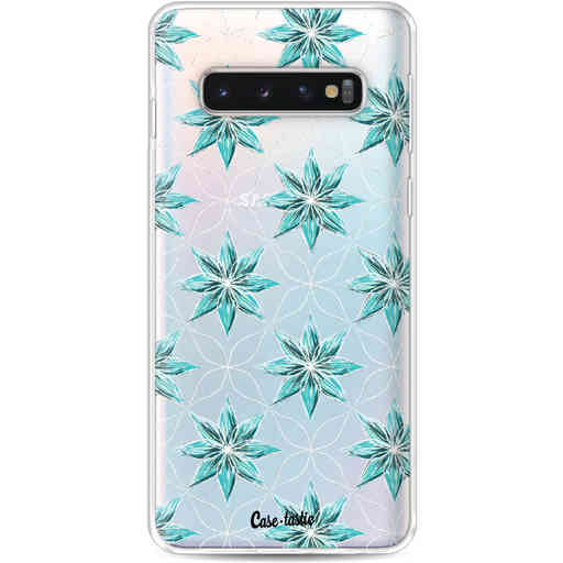 Casetastic Softcover Samsung Galaxy S10 - Statement Flowers Blue