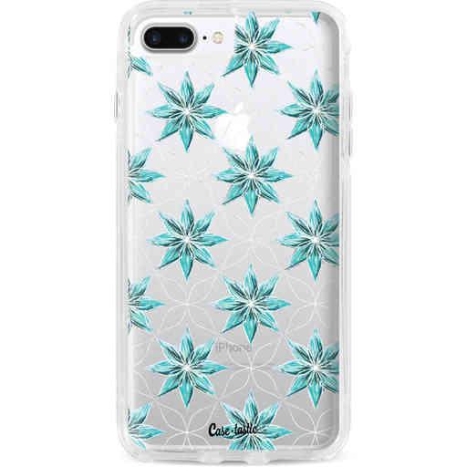 Casetastic Dual Snap Case Apple iPhone 7 Plus / 8 Plus - Statement Flowers Blue
