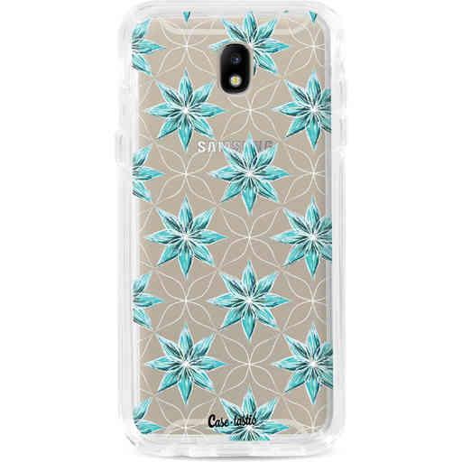 Casetastic Dual Snap Case Samsung Galaxy J7 (2017) - Statement Flowers Blue