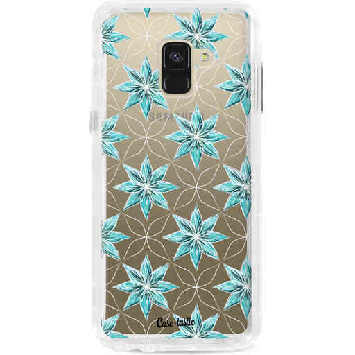 Casetastic Dual Snap Case Samsung Galaxy A8 (2018) - Statement Flowers Blue
