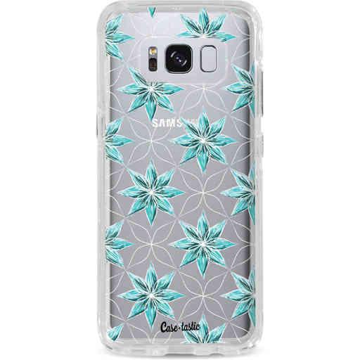 Casetastic Dual Snap Case Samsung Galaxy S8 - Statement Flowers Blue