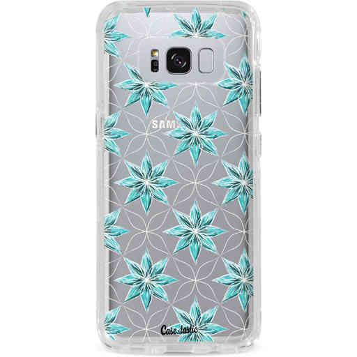 Casetastic Dual Snap Case Samsung Galaxy S8 Plus - Statement Flowers Blue