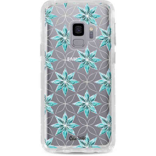 Casetastic Dual Snap Case Samsung Galaxy S9 - Statement Flowers Blue