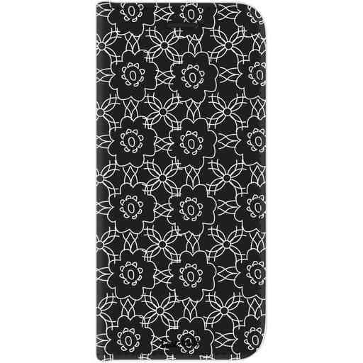 Casetastic Wallet Case Black Samsung Galaxy J7 (2017) - Flowerbomb