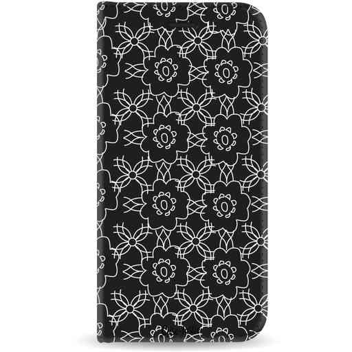 Casetastic Wallet Case Black Samsung Galaxy J6 (2018) - Flowerbomb